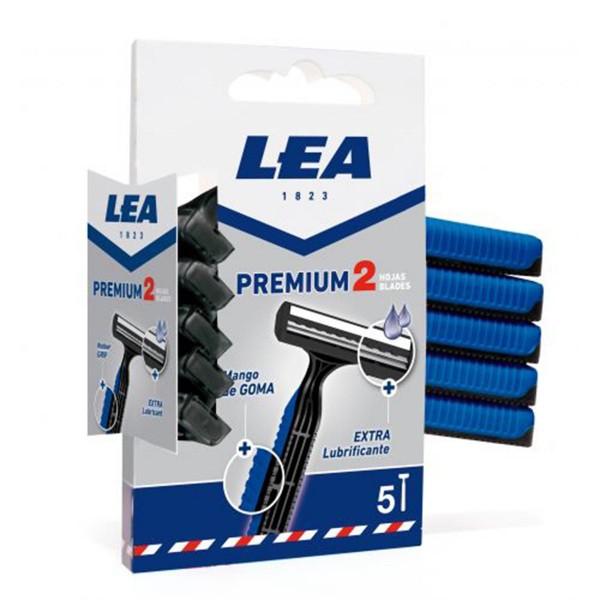 Lea premium 2 hojas cuchillas desechables 5u