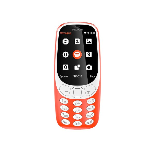 Nokia 3310 (2017) rojo cálido teléfono móvil senior 2g 2.4'' tft cámara 2mp bluetooth radio fm