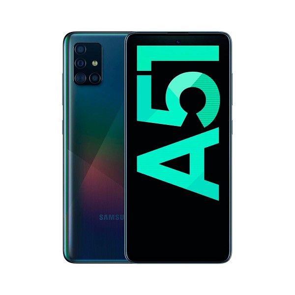 Samsung galaxy a51 negro móvil 4g dual sim 6.5'' super amoled fhd+/8core/128gb/4gb ram/48+12+5+5mp/32mp