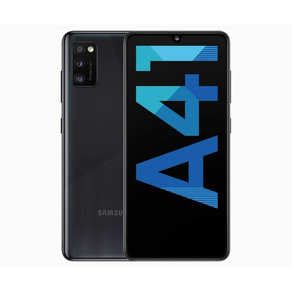 Samsung galaxy a41 negro móvil 4g dual sim 6.1'' super amoled fhd+/8core/64gb/4gb ram/48mp+8mp+5mp/25mp