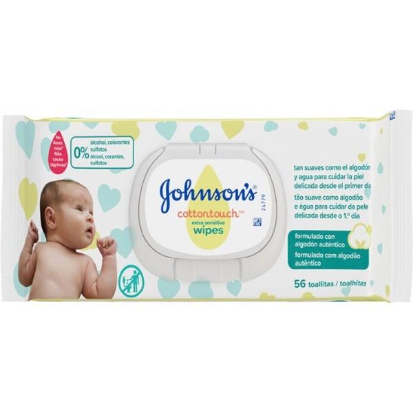 JOHNSONS TOALLITAS Cottontouch Extra Sensitive 56 u