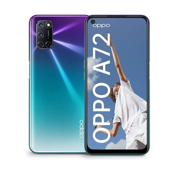 Oppo a72 aurora purple móvil 4g dual sim 6.5'' fhd+/8core/128gb/4gb ram/48+8+2+2mp/16mp