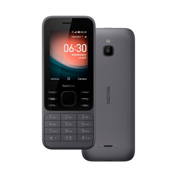 Nokia 6300 charcoal móvil 4g 2.4'' qvga 4gb cámara vga fm wifi bluetooth